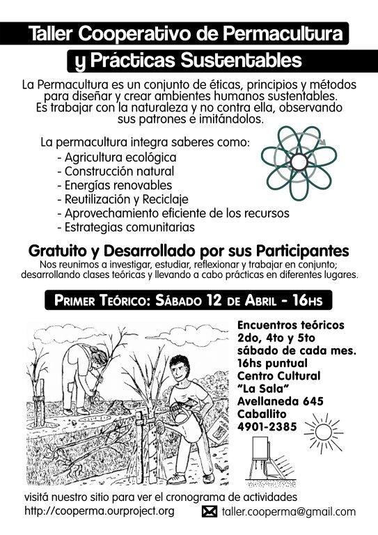 Taller Cooperativo de Permacultura: Afiche 2008